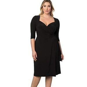 Lane Bryant Kiyonna Black Sweetheart Wrap Dress